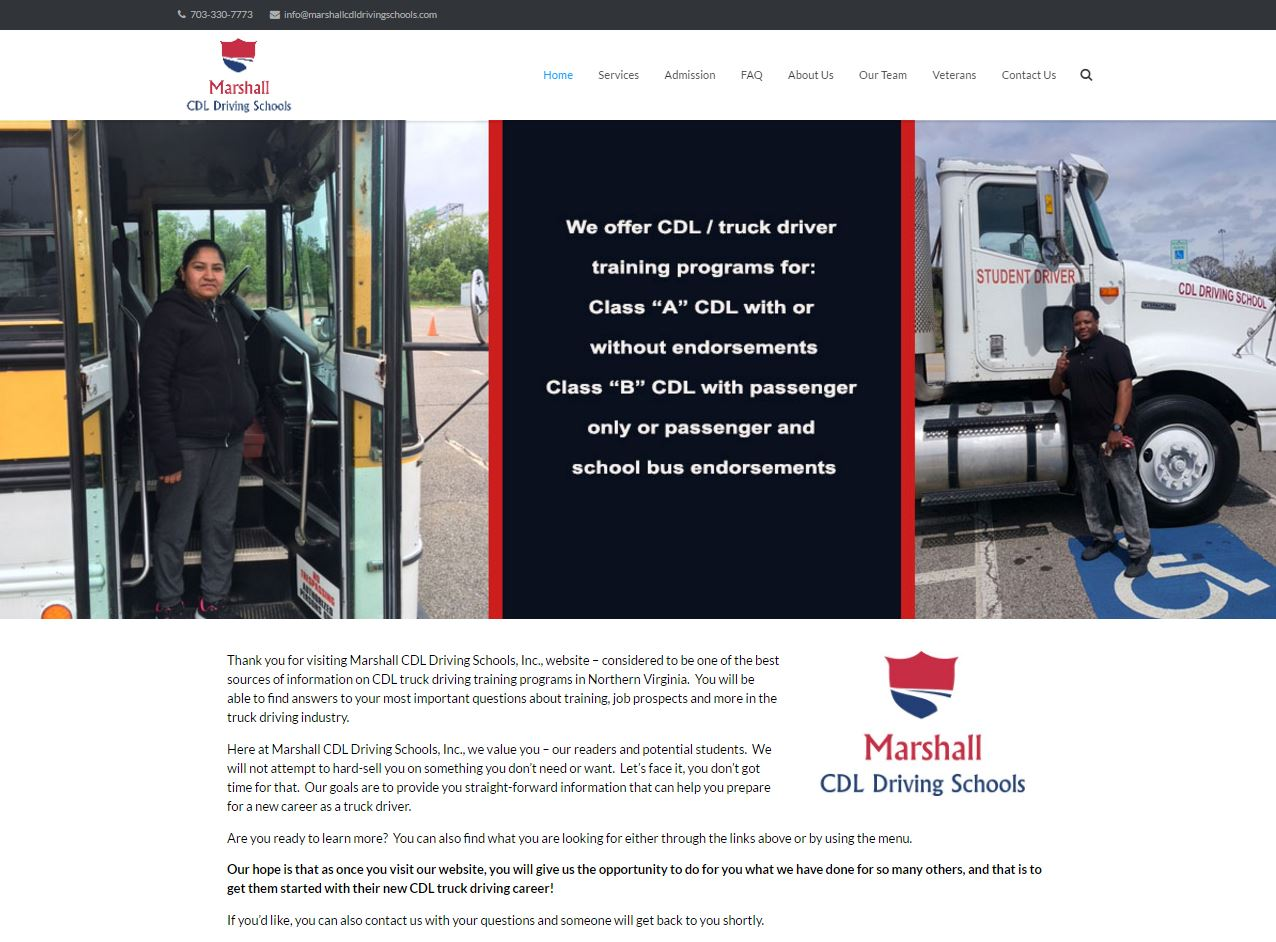 marshallCDL driving school